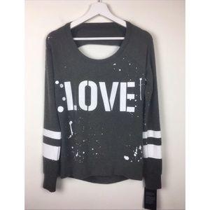 Chaser Love Recruit Drape Back Pullover Knit Top